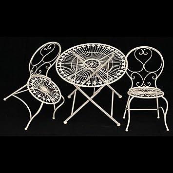 Stühle weiß antik  Kinder Tisch Stühle Gartenmöbel Set 1Tisch & 2 Stühle weiß antik ...