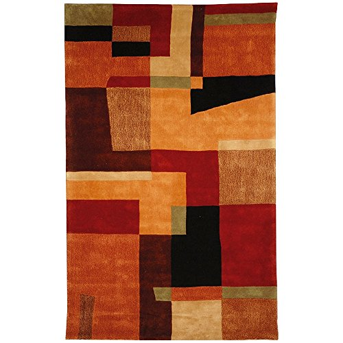 Safavieh Rodeo Drive Collection RD868A Handmade Modern Abstract Art Multicolored Wool Area Rug (3'6