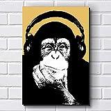 Placa Decorativa em MDF com 20x30cm - Modelo P153 - Macacos