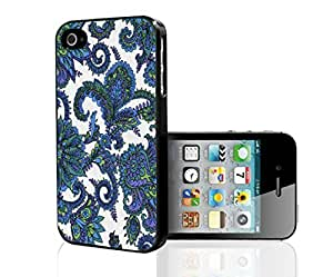 Blue, Green and Purple Pattern on White Background Hard Snap on Phone Case (iPhone 6 plus 5.5)
