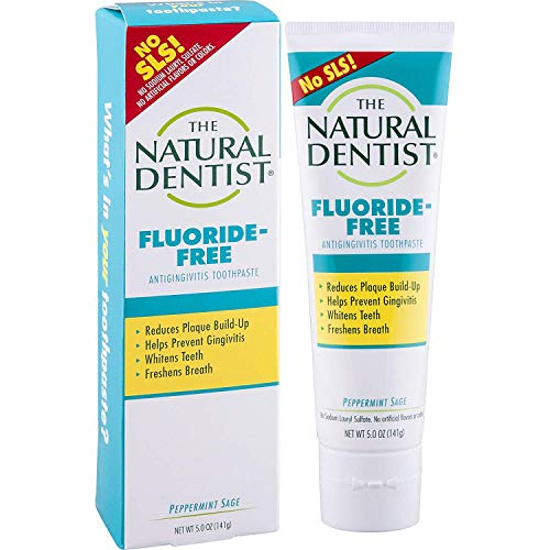 - The Natural Dentist Healthy Teeth & Gums Fluoride-Free Toothpaste, Peppermint Sage - 5 oz