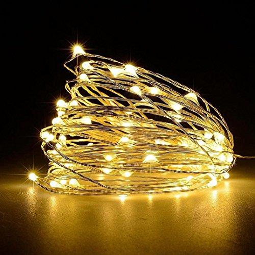 Nightlight,YJYDADA 2 Pcs Led String Lights Decorative Bedroom Garden Yard Parties Wedding (Yellow) by YJYDADA