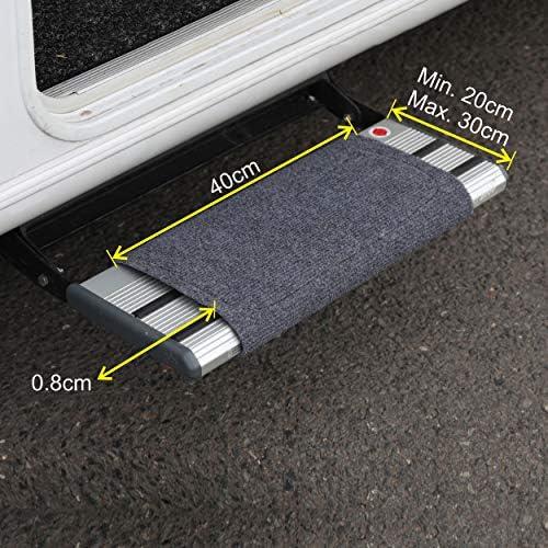 Premium Caravan Step Doormat Exclusive Carpet For Camper In Grey Black Grey Auto
