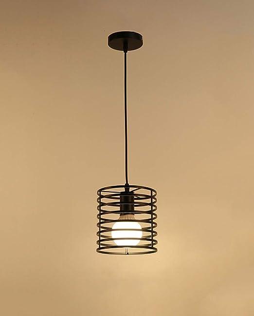Titular LED Lámpara Colgante Retro Lámpara Industrial En Rollo Hueco De Iluminación Interior Lámpara E27, 150Cm Estable Suspensión Cuerda Conveniente Para La Sala De Estar, Comedor,Blacka,Surface: Amazon.es: Hogar