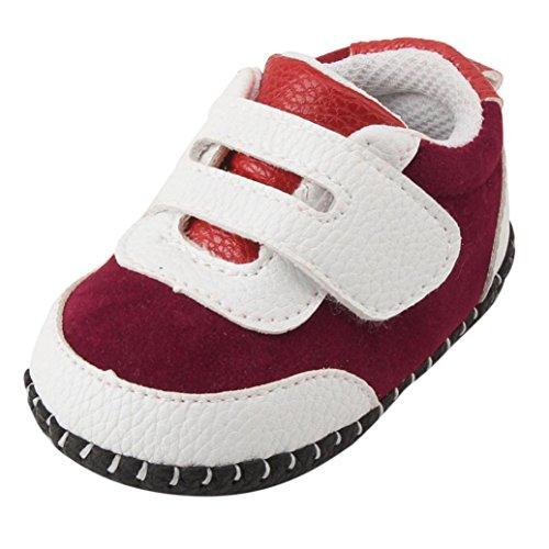 Jamicy® Babyschuhe, Kleinkind Jungen Mädchen Leder Soft Sole Turnschuhe Krippe Schuhe Rot