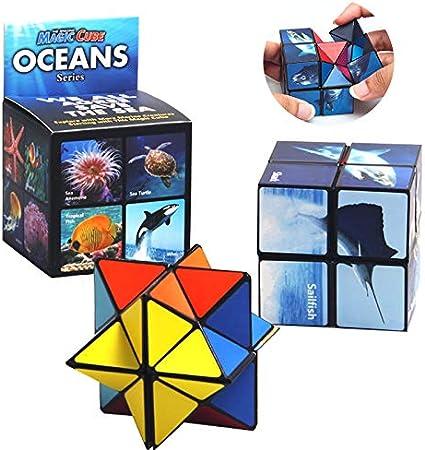 New Geometric Magic Cube Puzzle Magic Transforming Intelligence Educational Toys