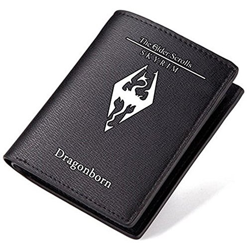 (The Elder Scrolls Skyrim Dragonborn Black ShortPu Leather Wallet)