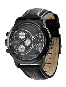 Police Viper P12739JSB-02 - Reloj de caballero de cuarzo, correa de piel color negro