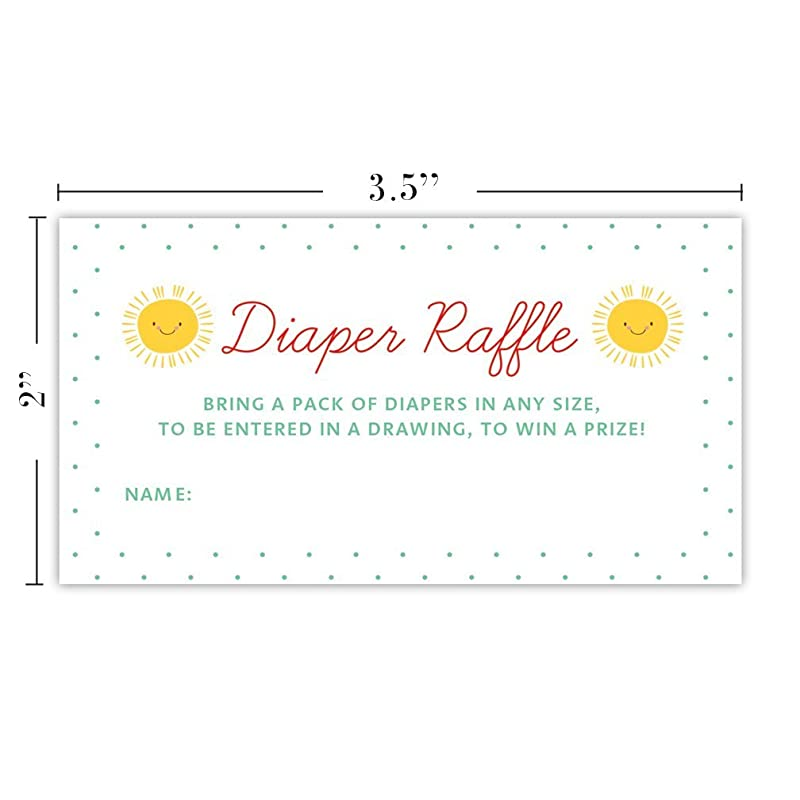 Diaper Raffle Tickets Rustic 48 Pack Baby Shower Infant Girl Gender Guest Invitation Inserts Pink Flowers Fill in Blank Name Cards Party Game Prize Drawing Newborn Daughter 3.5 x 2 Inches Digibuddha