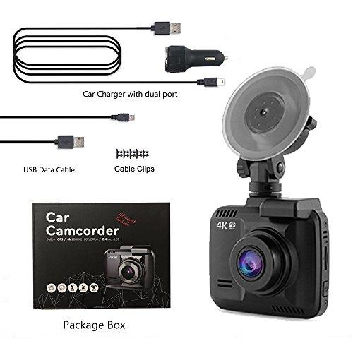 dash cam car dvr dashboard camera recorder with 4k fhd. Black Bedroom Furniture Sets. Home Design Ideas