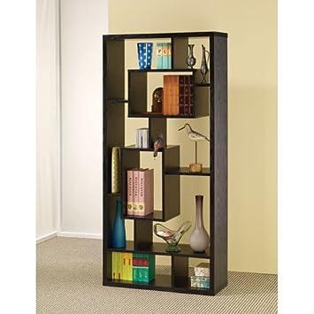 Coaster Room Divider Shelf In Black Oak Finish