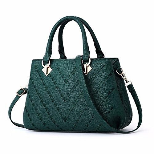 Guangming77 Single Bag Shoulder Bag _ Only All-match Simple, Ding Ding Yi Yi Green Brown Shoulder Shoulder