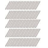 uxcell 100Pcs Round Shaft Rods Axles 304 Stainless Steel 3mm x 30mm for RC Toy Car