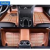 Gallop Full Set Waterproof Leather Custom Fit Floor Liners Floor Mats for Landrover Range Rover Sport 2014-2016 5 seats - Brown