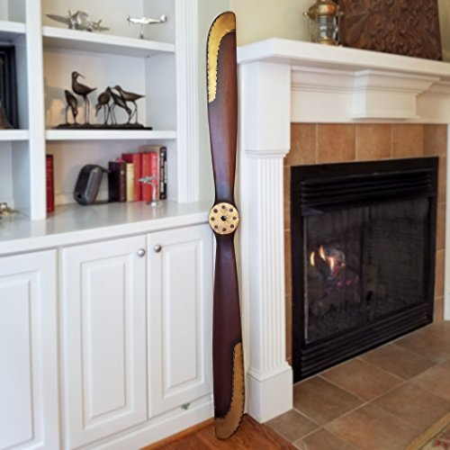 1917 Replica Wood Airplane Propeller with Brass Edging ()