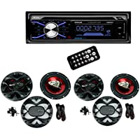 Boss 508UAB Dash CD Car Player USB/SD MP3 Receiver Bluetooth + 4 6.5 Speakers