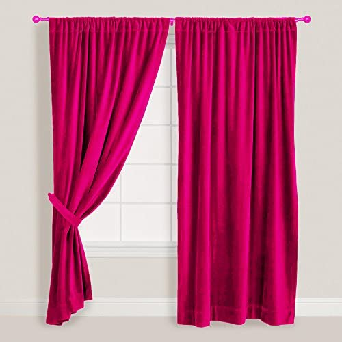 Fuschia Thick Velvet Curtain