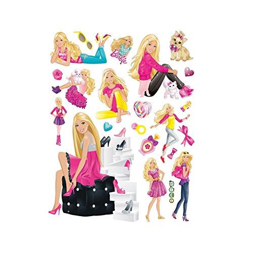 Fangeplus(R DIY Removable Barbie Doll Cute Princess Art Mural Vinyl Waterproof Wall Stickers Kids Room Decor Nursery Decal Sticker Wallpaper 23.6''x17.7''