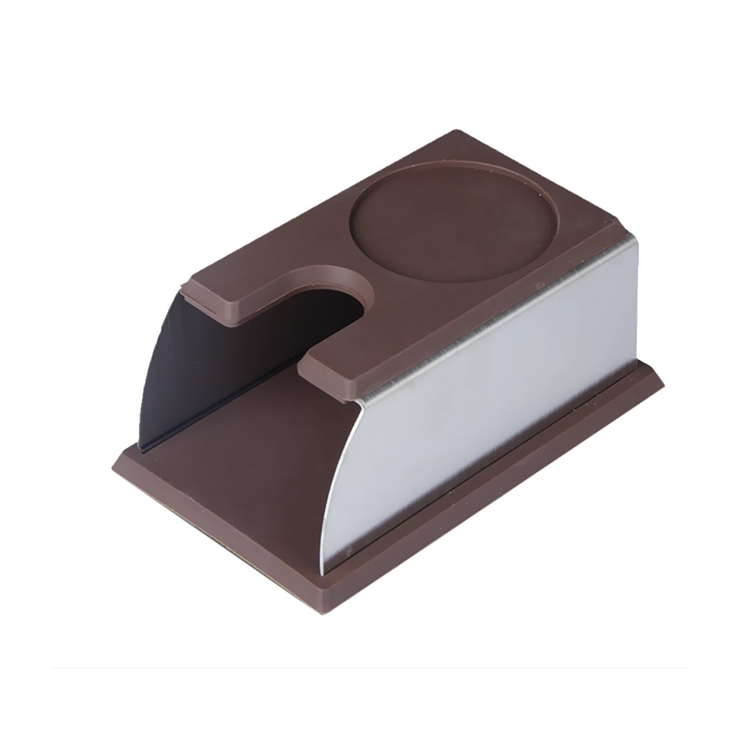 Jili Online Coffee Tamper Holder Barista Tamping Station Espresso Accessory Stand Brown