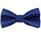Boys Easter or Holiday Banded Formal Novelty Bow Tie (Royal Blue & Black)