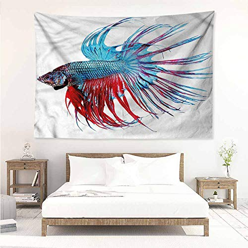 (Sunnyhome DIY Tapestry,Aquarium Tropic Aquatic Life Theme,Literary Small Fresh,W74x57L)