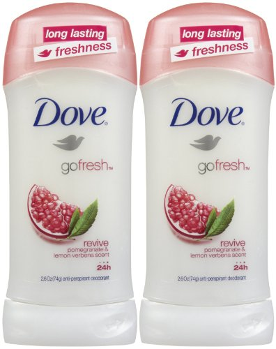 Price comparison product image Dove Go Fresh Antiperspirant & Deodorant, Revive - 2.6 oz - 2 pk