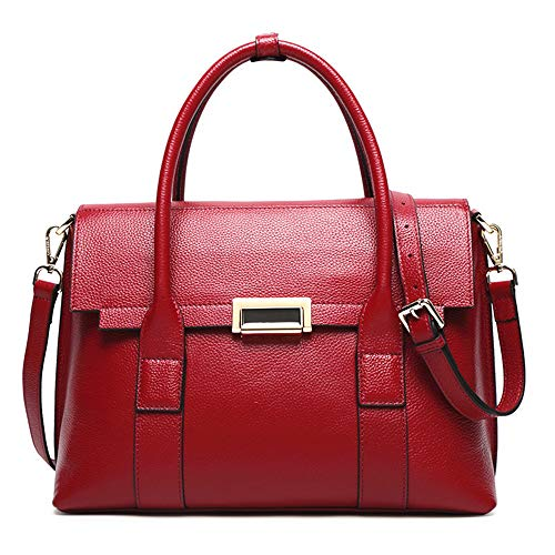 color Mujeres Monedero Del Shoulder Cuero Hombro Embrague Rojo Multifuncional Las De Muñeca Cartera Travelbags Marrón La Bolso El Bandolera Xuanbao Totalizador Tote HPxAH