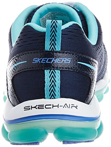 best place sale online outlet geniue stockist Skechers Women's Skech-Air 2.0 Aim High Trainers Navy Mesh/Light Blue Trim W1CvKlo2