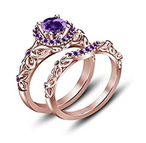 amethyst wedding ring tvs jewels purple amethyst bridal disney 1294