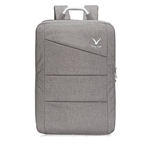 Hynes Eagle Water Ressistant Office Backpack Travel Business Bag College School Laptop Backpack Large 17 inch Grey