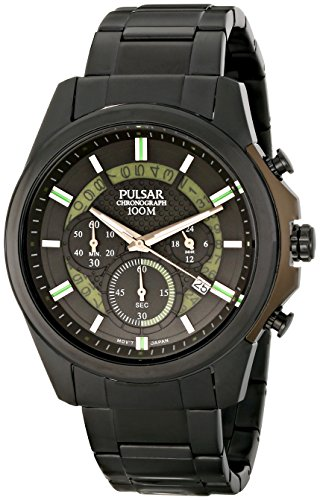 (Pulsar Men's PT3523 On The Go Analog Display Japanese Quartz Black Watch)