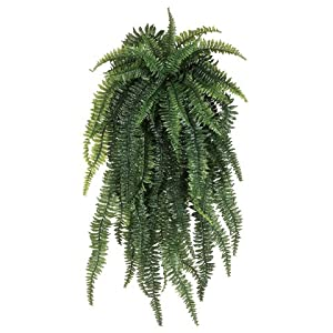 """52"""" Weeping Boston Fern Silk Hanging Plant -55 Leaves (case of 2) 62"""