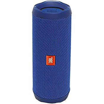 8b41126c63f JBL FLIP 4 IPX7 Waterproof Wireless Portable Bluetooth Rechargeable USB  Speaker (Blue) (Renewed)