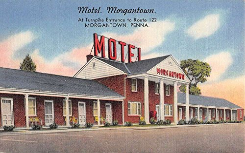 Morgantown Pennsylvania Motel Street View Antique Postcard K58666