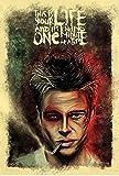 PRINTELLIGENT Paper Fight Club Movie Poster (350 GSM Matte Laminated, 12x1-Inches, Multicolour)