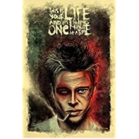 PRINTELLIGENT Paper Fight Club Movie Poster (350 GSM Matte Laminated, 12x1-Inches, Multicolour)