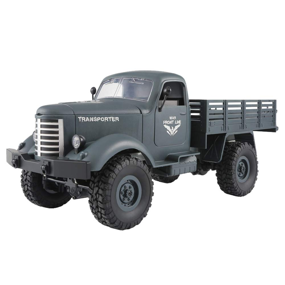 Aland-4 Wheels Remote Control RC 1:16 2.4G Off-Road Military Truck Car Kids Toy Gift - Blue