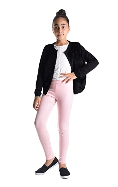 bf55e0c9732c8 Amazon.com: Dinamit Jeans Girls Shiny Metallic Color Elastic Leggings:  Clothing