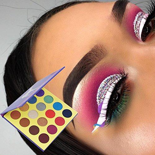 ROPALIA 16 Color Earth Eyeshadow Purple Waterproof Palette