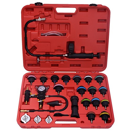 Goplus 28PCS Radiator Pressure Tester Vacuum Type Cooling System Purge and Refill Kit W/Case by Goplus (Image #1)