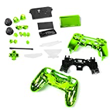 Generic Full Housing Shell Case Button Kit Replacement Parts for PlayStation 4 PS4 Wireless Controller Green