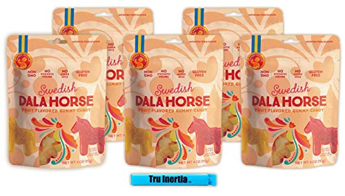 - Candy People Dala Horse Gummy Candy 4 Ounce - Non-GMO Gluten-Free Swedish Candy Gummies with Tru Inertia Chip Clip (5 Pack)