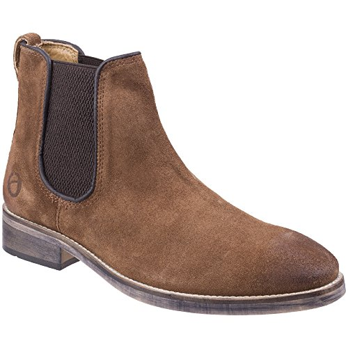 Cotswold Mens Corsham Town Leather Pull On Casual Chelsea Ankle Boots Camel