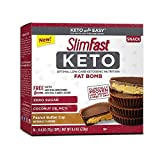 SlimFast Keto Fat Bomb Snacks, Peanut Butter Cup, 17 Grams, 14 Pack Box