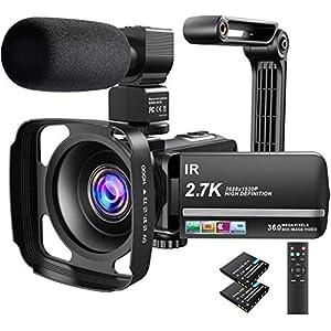 Flashandfocus.com 515oI3ZsFVL._SS300_ Video Camera Camcorder 2.7K Ultra HD YouTube Vlogging Camera 36MP IR Night Vision Digital Camera Recorder 16X Digital…