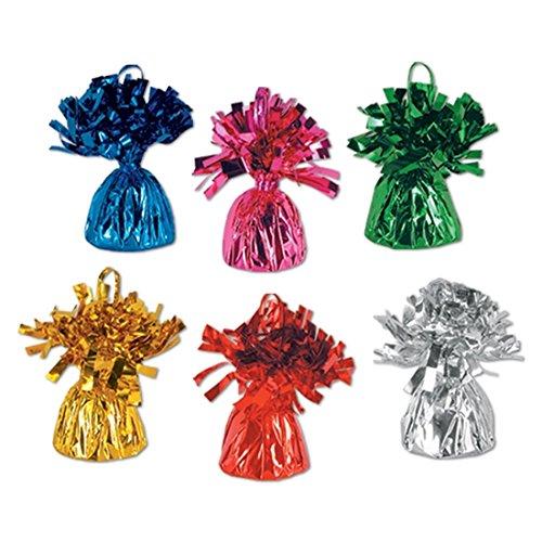 Metallic Balloon Weights Centerpieces - Assorted Colors 1 Dozen per Unit