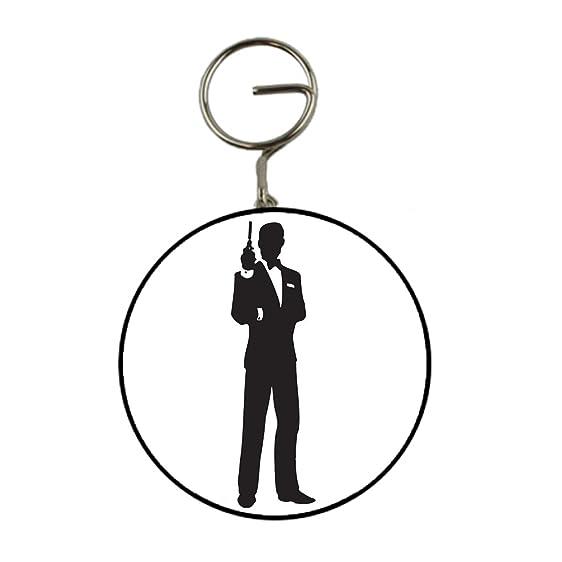 james bond silhouette key ring bottle opener keyring 58mm