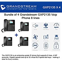 Grandstream GXP2135 4-PACK Voip Phone 8 lines Enterprise Grade High Performance