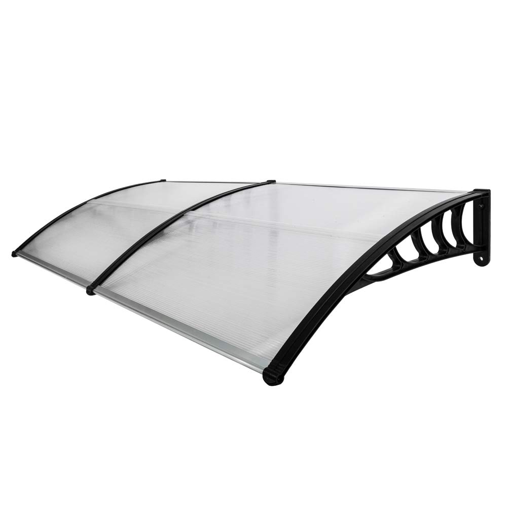SSLine Overhead Door Window Outdoor Awning Door Canopy Patio Cover Rain Snow Protection(80x40 inch/Black) by SSLine
