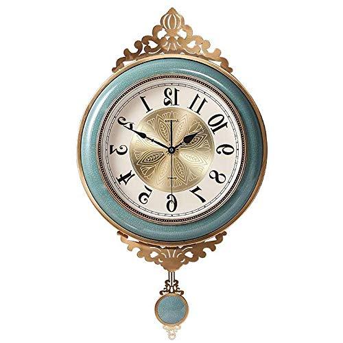 (Jian Ming Living Room Decoration Ceramic Mute Wall Clocks and Clocks Home Atmosphere Clock Creative Fashion Simple Hanging Table Wall Clock)